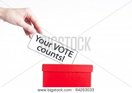 your vote counts, election concept