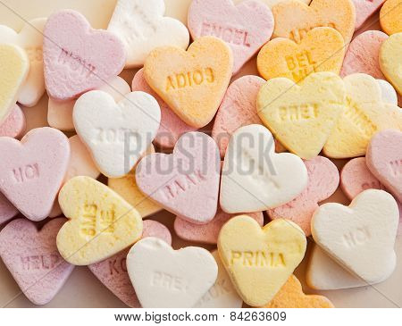 Heart Shaped Shugar Candies