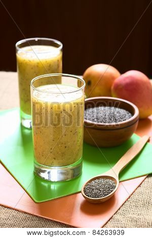 Chia Seed and Mango Juice