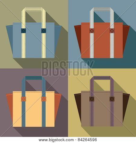 Flat Design Tote Bags.