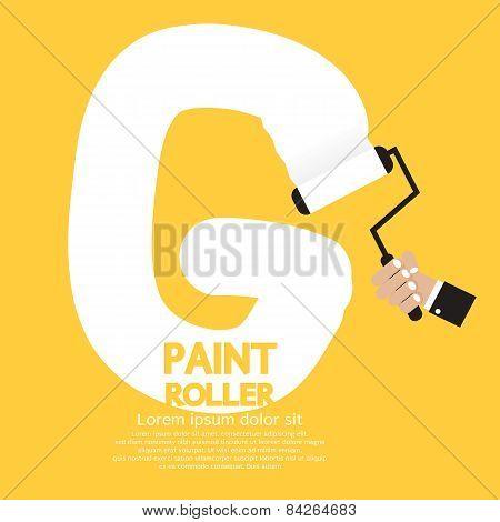 Paint Roller Alphabet G.