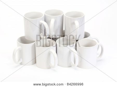 White Ceramic Cups