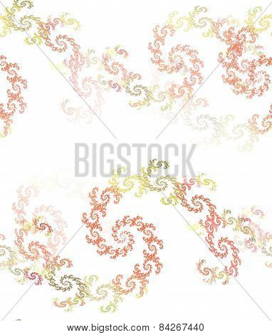 Abstract Seamless Spiral Pattern In Orange And Green
