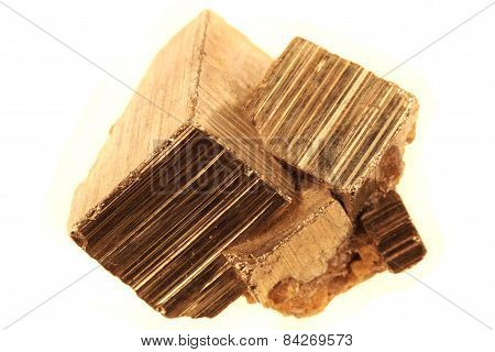 Golden Cubes (pyrite Mineral)