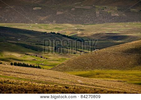 Beuatiful landscape along the foothills of Chimborazo volcano