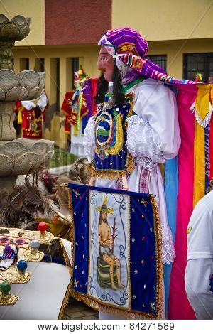 Inti Raymi celebation in Riobamba, Ecuador