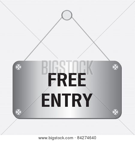silver metallic free entry