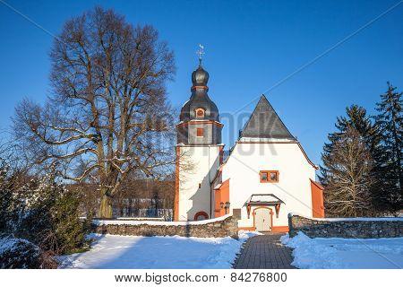 Village Church In The Taunus