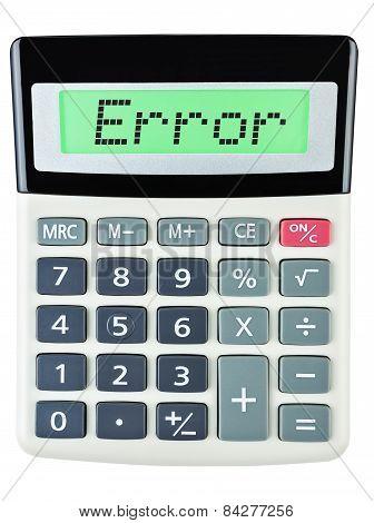 Calculator With Error