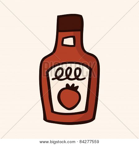 Ketchup Flat Icon Elements,eps10