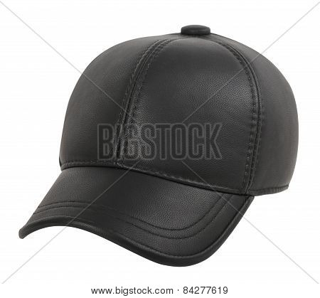 Leather Cap On A White