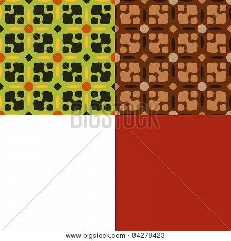 Set Of Seamless Symmetric Patterns
