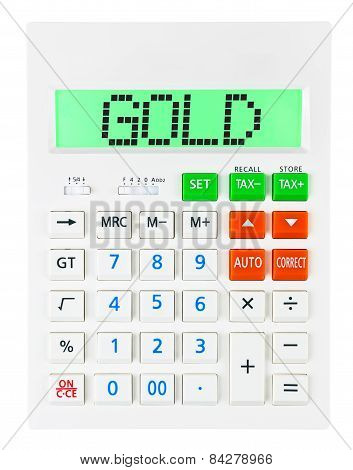Calculator With Gold