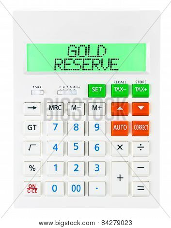 Calculator With Gold Reserve