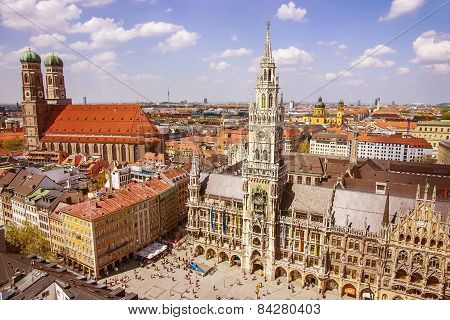Munich Cuty Center Skyline