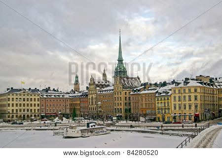 Stockholm City Center In Winter