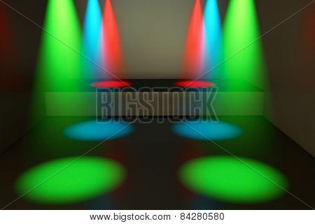 Spotlights And Stage - 3D Rendered Illustration