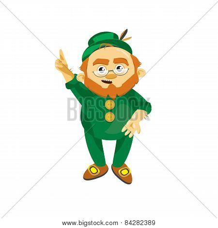 Leprechaun in a green suit