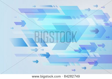 Abstract Arrow Background, Vector Illustration