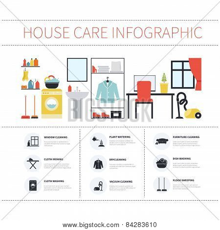 House cleaning infographic