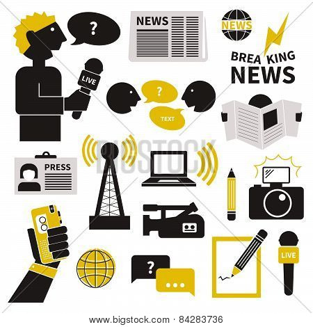 Journalism Icons Set
