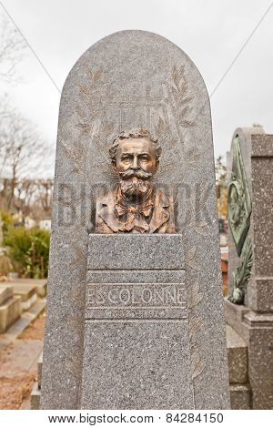 Grave Of Violinist Ed Colonne In Paris