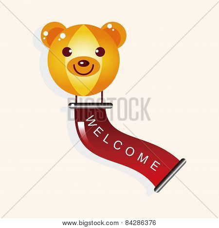 Playground Welcome Ballon Theme Elements Vector,eps