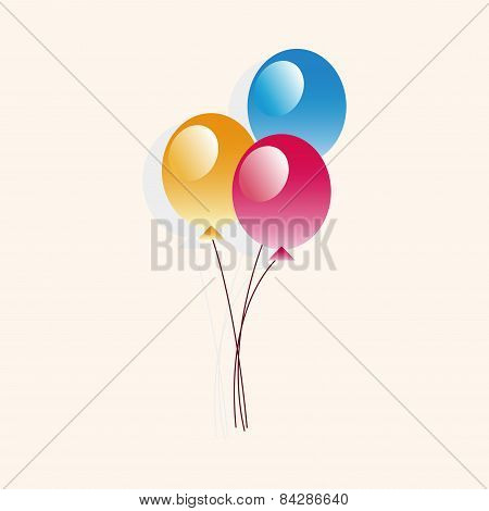 Playground Ballon Theme Elements Vector,eps