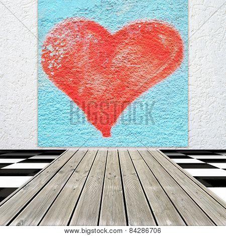 Heart On Wall