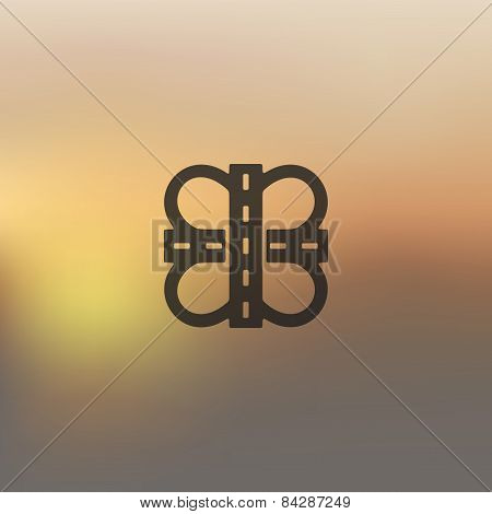 road icon on blurred background