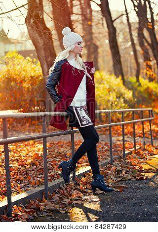 Beautiful Blonde Woman In Posing