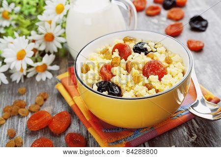Millet Porridge With Dried Fruit