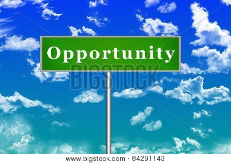Opportunity Sign Board