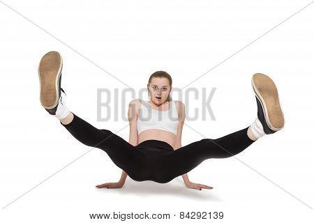 Woman With Raised Feet