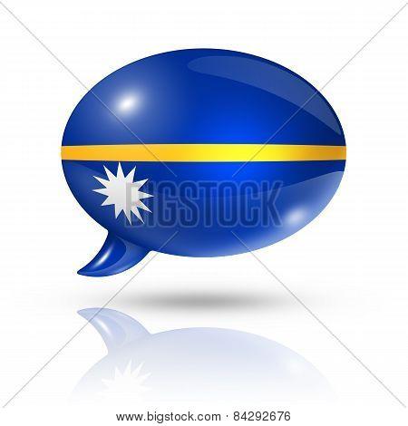 Nauru Flag Speech Bubble