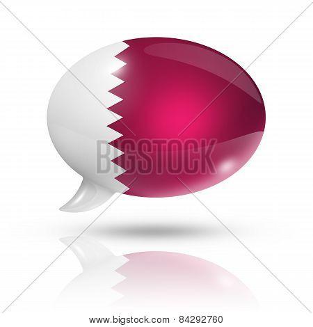 Qatar Flag Speech Bubble