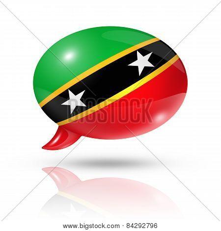 Saint Kitts And Nevis Flag Speech Bubble