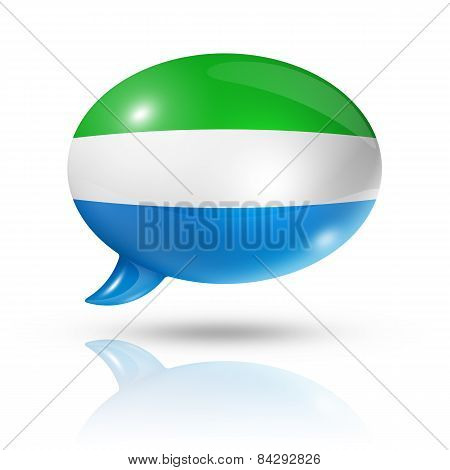 Sierra Leone Flag Speech Bubble