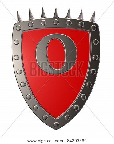 Shield With Letter O