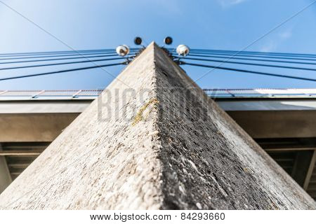 Architectural Concrete Bridge Pillar Of Cable-stayed Bridge