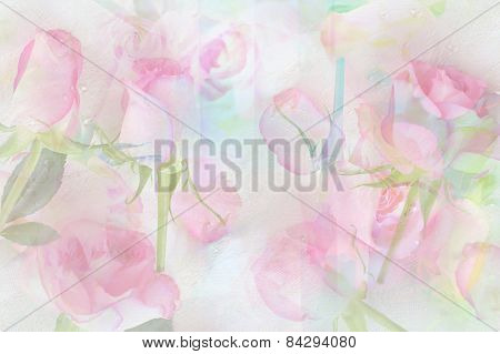Pretty Abstract Rosy Background