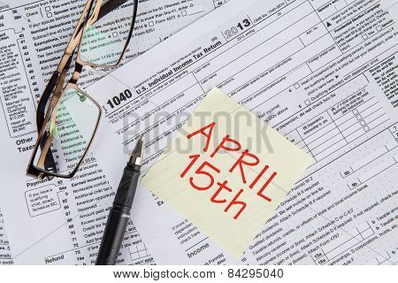 Tax Form With The Deadline Time