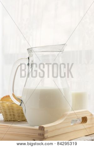 Glass Of Milk And A Jug