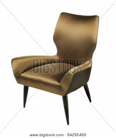 Antique 1960's Armchair Stylish Isolated