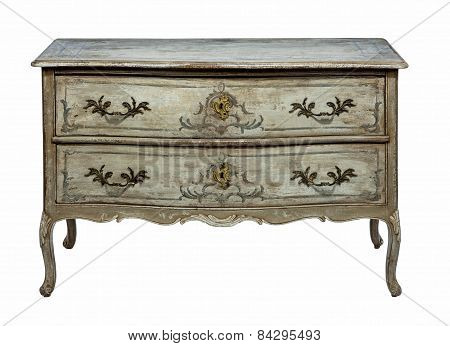 Chest Of Drawers Old Original Antique Europeanhand Made And  Painted  Trunk Decorative