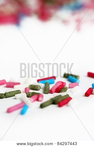 Colorful candy sprinkles