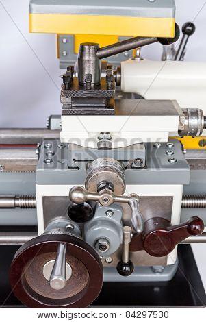 Lathe Machine Closeup