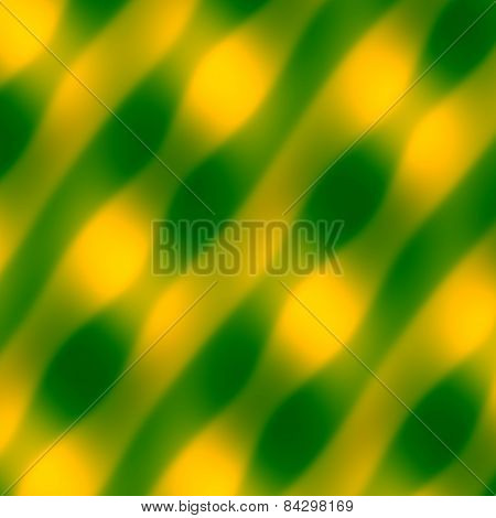 Abstract wave pattern. Yellow green background. Blurred decorative illustration. Art texture.