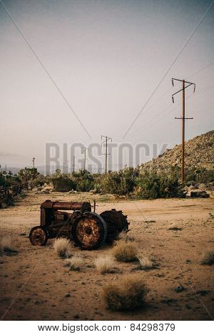 Abandoned Tractor in Joshua Tree