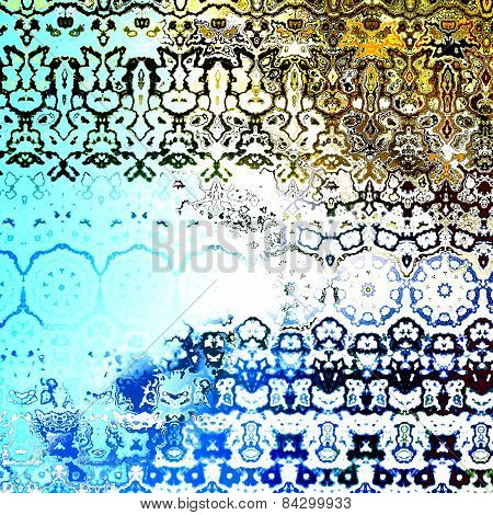 Grungy retro artwork. Decorative fabric pattern. Abstract art background. Artistic illustration.